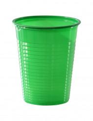 50 bicchieri di plastica verdi