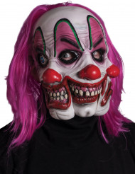 Maschera clown a 3 visi adulto Halloween