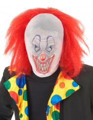 Passamontagna con viso da clown e parrucca Halloween