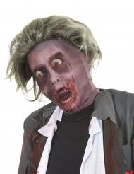 Passamontagna da zombie con parrucca Halloween