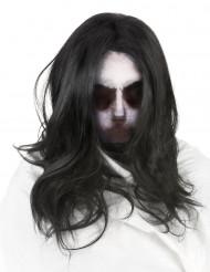 Passamontagna da fantasma con parrucca Halloween