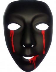 Maschera nera con lacrime di sangue Halloween