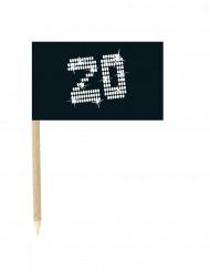 Stecchini con bandierina numero 20