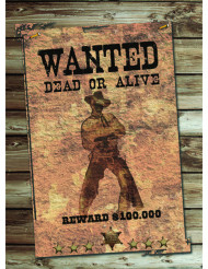 Decorazione western WANTED