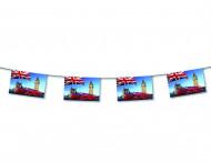 Ghirlanda Londra di carta ignifuga 4 metri