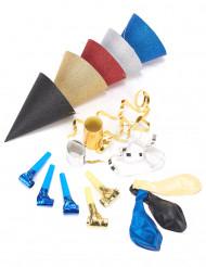 Kit di accessori per la festa con brillantini per 5 persone