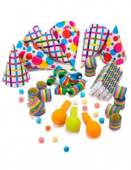 Kit per la festa multicolore per 10 persone