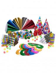 Kit per la festa colorato per 10 persone