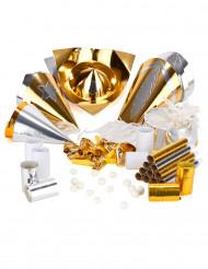 Kit per la festa per 10 persone oro e argento