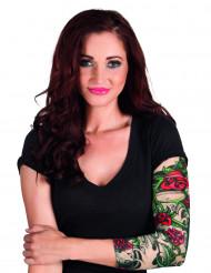 Manica con finto tatuaggio Rose rosse per donna