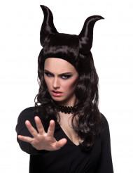 Parrucca demonica donna Halloween