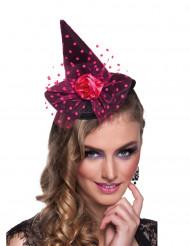 Mini cappello a punta con tulle a pois - Halloween