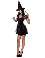 Costume da strega stellata sexy donna halloween