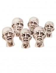 Teste di zombie Halloween