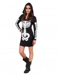 Costume da scheletro con cappuccio per adolescente - Halloween
