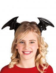 Cerchietto con ali di pipistrello nero per bambina Halloween
