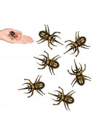 6 decorazioni scarafaggi dorati Halloween