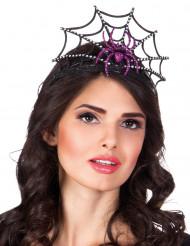Tiara ragnatela viola per donna- Halloween
