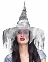 Cappello da strega bianco per donna - Halloween