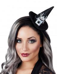 Mini cappello da strega con ragno - Halloween