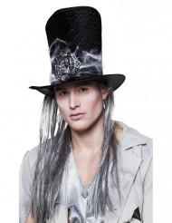 Cappello a cilindro con ciocche brizzolate - Halloween