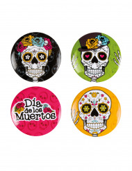 4 spille pins Dia de los muertos