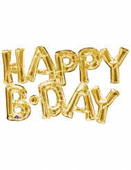 Palloncino in alluminio Happy Birthday dorato