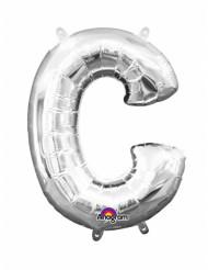 Palloncino in alluminio lettera C argento