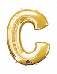 Palloncino in alluminio lettera C oro