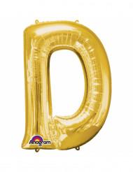 Palloncini in alluminio lettera D dorato