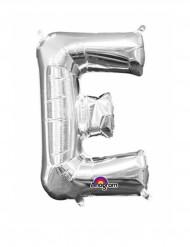 Palloncino in alluminio lettera E color argento