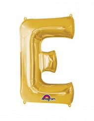 Palloncini in alluminio lettera E dorato