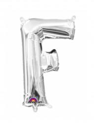Palloncini in alluminio lettera F argento
