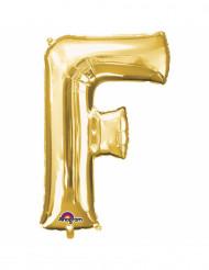 Palloncino in alluminio lettera F dorata