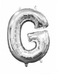 Palloncino in alluminio lettera G argento