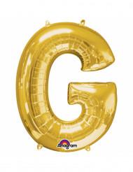 Palloncino in alluminio lettera G dorata