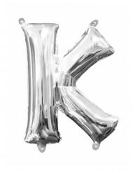 Palloncino in alluminio Lettera K argentata