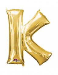 Palloncino in alluminio lettera K dorata