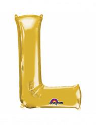 Palloncino alluminio lettera L dorata