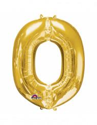 Palloncino alluminio dorato lettera O