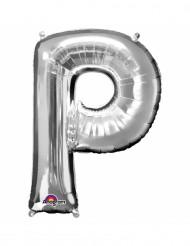 Palloncino in alluminio lettera P argentata