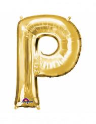 Palloncino alluminio lettera P dorata