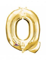 Palloncino lettera Q dorata