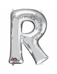 Palloncino alluminio lettera R color argento