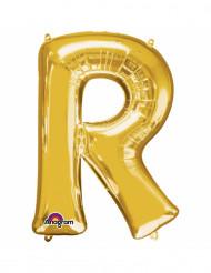 Palloncino alluminio lettera R dorato
