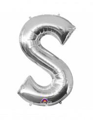 Palloncino alluminio lettera S color argento