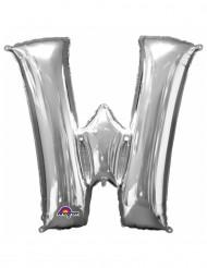 Palloncino alluminio lettera W color argento