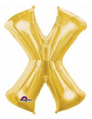 Palloncino in alluminio lettera X dorata
