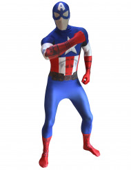 Costume seconda pelle Morphsuits da Capitan America per adulto