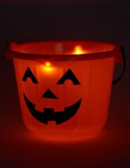 Secchio zucca a led 22 x 17 cm Halloween